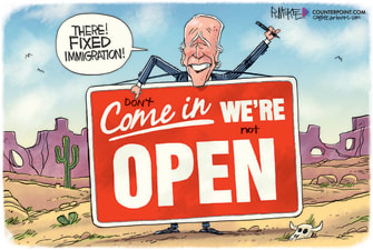 Political Cartoon U.S. biden immigration