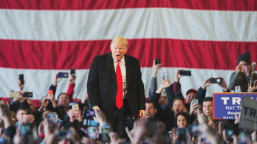 Republican presidential candidate Donald Trump in April 2016.