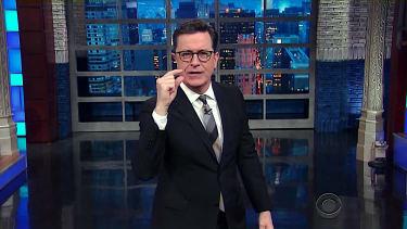 Stephen Colbert tackles first week of President Trump