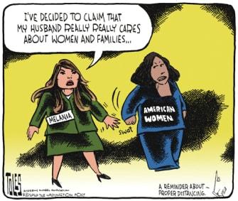 Political Cartoon U.S. Melania Trump RNC