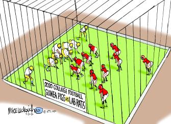 Editorial Cartoon U.S. NCAA college football COVID