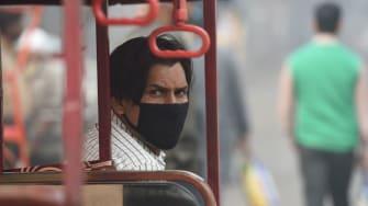 Pollution in New Delhi.
