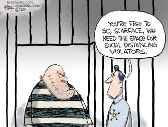 Editorial Cartoon U.S. social distancing prison