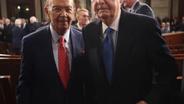 Commerce Secretary Wilbur Ross at President Trump's big speech