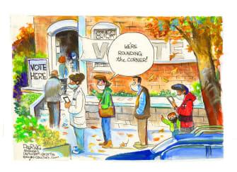 Editorial Cartoon U.S. Voting 2020
