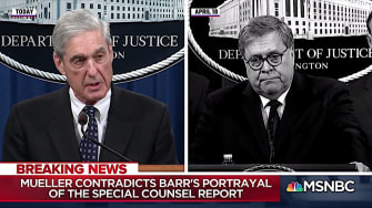 MSNBC compares Mueller and Barr's statements