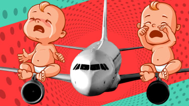 Babies on a plane.