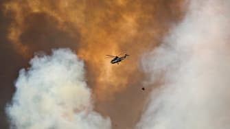The fire in Fort McMurray, Alberta, Canada.
