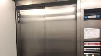 Elevator door.