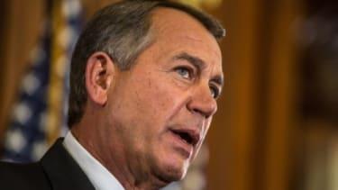 House Speaker John Boehner speaks on Capitol Hill on Nov. 7: