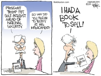 Political Cartoon U.S. Trump Bolton book