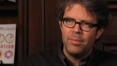 Jonathan Franzen's glasses were rescued after the drunk thief was found in a bush not far from the crime scene.