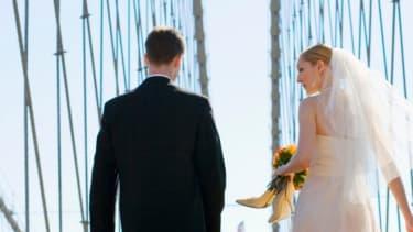 The average Manhattan wedding costs, $76,687.