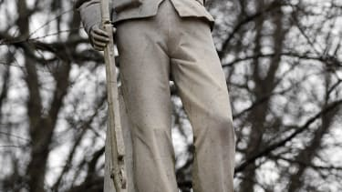 A statue at Ole Miss honoring Confederate soldiers.