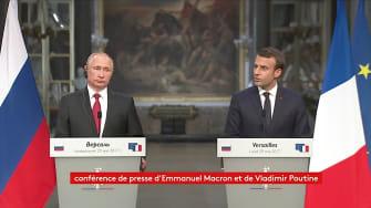 "France Macron calls Russian media ""propaganda"""