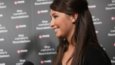 Bristol Palin is interviewed during a Candie's Foundation event last year.