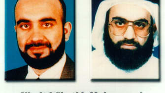 Khalid Sheikh Mohammed's FBI Most Wanted poster.