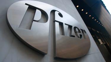 A Pfizer sign