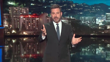 Jimmy Kimmel tells jokes about Trump and Pope Francis