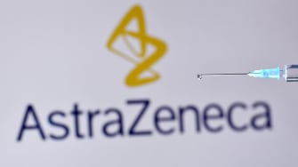The AstraZeneca logo.