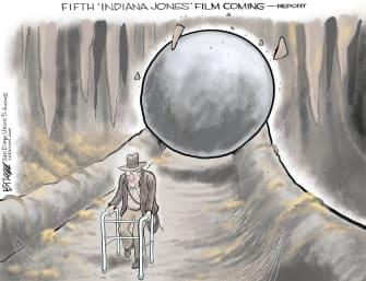 Editorial Cartoon U.S. Disney Indiana Jones Harrison Ford