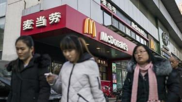 A McDonald's restaurant in Beijing