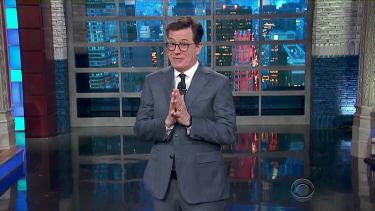 Stephen Colbert prays that Trump does his own news briefings