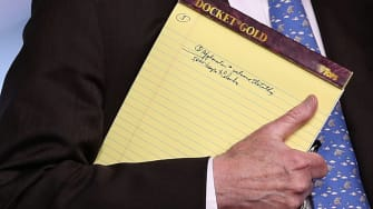 National Security Adviser John Bolton's notes on Venezuela