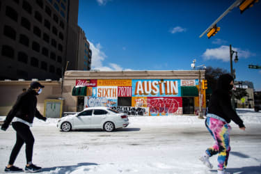 Austin in the snow