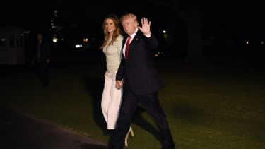 President Trump arrives home from Europe