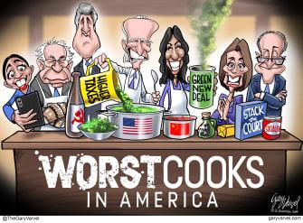 Political Cartoon U.S. Biden Harris democrats