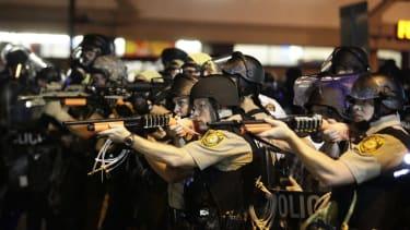 Michael Brown protests in Ferguson, Missouri, 2014.