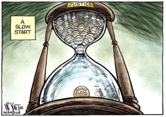 Editorial Cartoon U.S. george floyd blm chauvin verdict