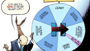 Political cartoon U.S. Democrats excuses