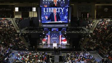 President Trump at Liberty University.