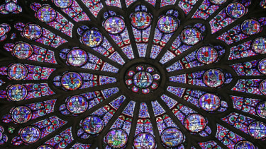 Rose windows in Notre Dame.