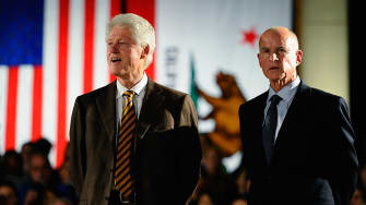 Bill Clinton and Jerry Brown were not close during his presidency.