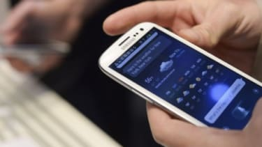 """The Samsung Galaxy S III features a Siri-like voice control that allows users to simply shout """"snooze"""" when their alarm goes off too early in the morning."""