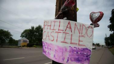 A memorial left for Philando Castile.