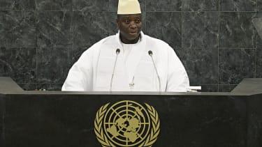 Former Gambian President Yahya Jammeh in 2013