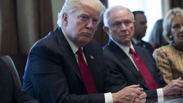 President Trump and Jeff Sessions.