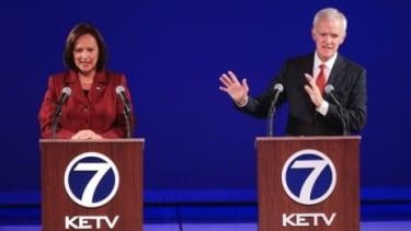 Democrat Bob Kerrey, a former senator and governor in Nebraska, at his second debate with Republican Deb Fischer in Omaha, Neb., on Sept. 28.