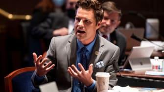 Rep. Matt Gaetz protests