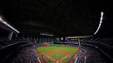 """Marlins Park is about an hour and a half drive south of the so-called """"Winter White House,"""" Mar-a-Lago."""