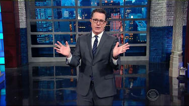 Stephen Colbert is at a loss for words after Trump's press conference
