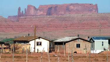 A file photo showing houses in the Navajo Nation.