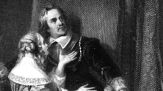A portrait of Oliver Cromwell and his daughter