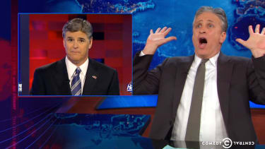 Jon Stewart deftly shows Sean Hannity why you don't pick a fight with Jon Stewart
