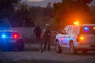 Law enforcement after the shooting in San Bernardino, California.