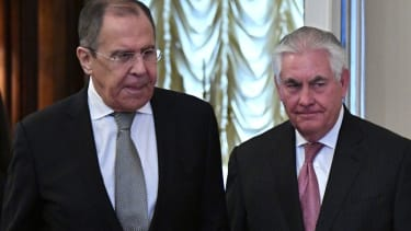 Sergey Lavrov and Rex Tillerson meet in Moscow